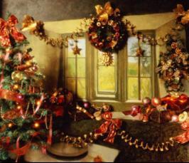 На новый год украсить штору своими руками